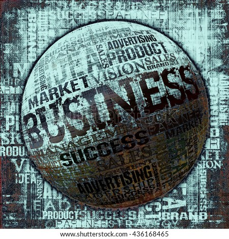 Business Word Cloud Concept Background - stock photo