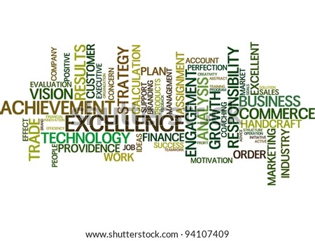 business word cloud over white - stock photo