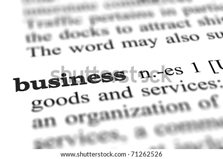 business word from dictionary, close up - stock photo