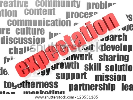 business word of expectation - stock photo