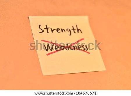 Business Wording on the sticky paper texture background - stock photo