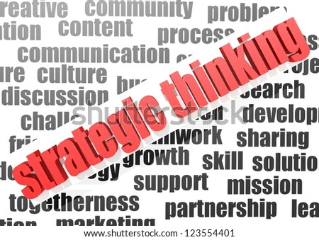 Business work of strategic thinking