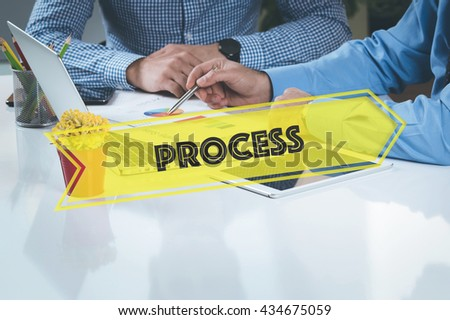 BUSINESS WORKING OFFICE Process TEAMWORK BRAINSTORMING CONCEPT - stock photo
