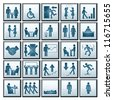 Business Workplace. Icons of Business Situations - stock photo