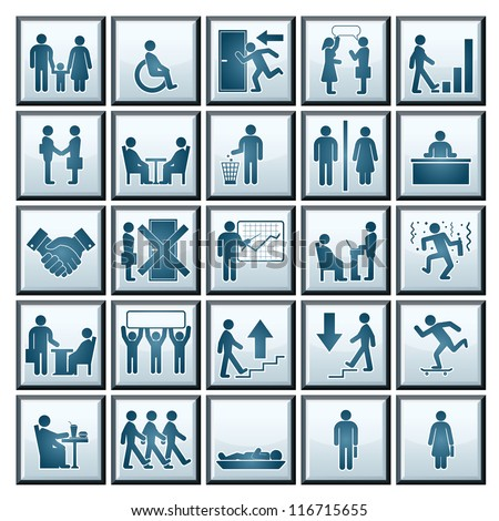 Business Workplace. Icons of Business Situations