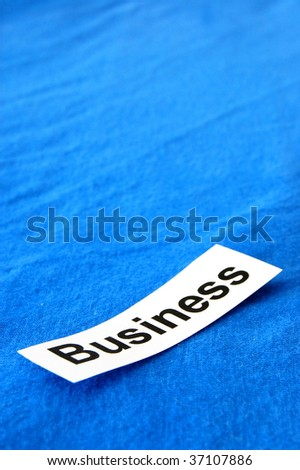 business written on paper showing commercial concept