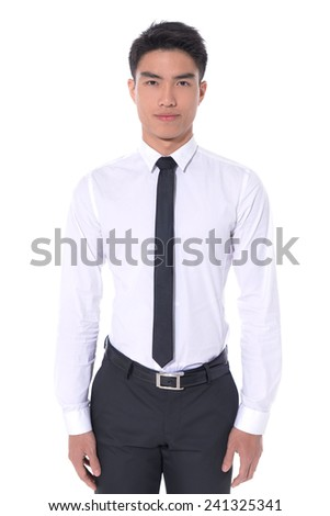 Business young man ,portrait isolated on white background. - stock photo