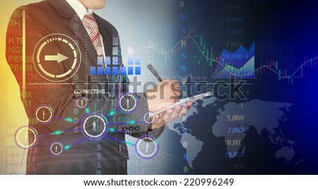 businessman analysis stock