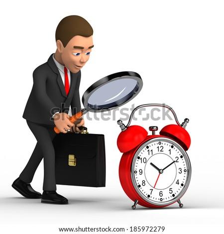 businessman analyzes time - stock photo