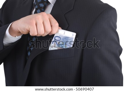 Businessman and euro - stock photo