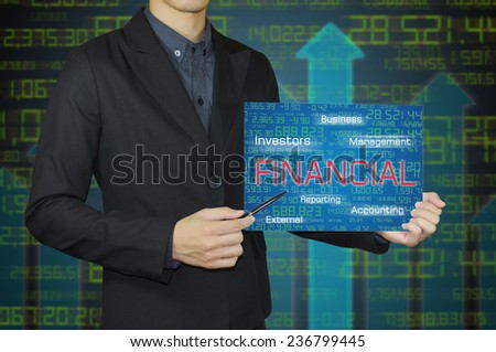 businessman and financial concept. - stock photo