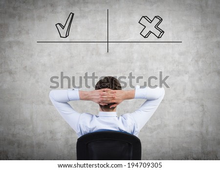 Businessman and future plans. - stock photo