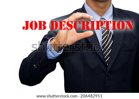 Businessman and JOB DESCRIPTION