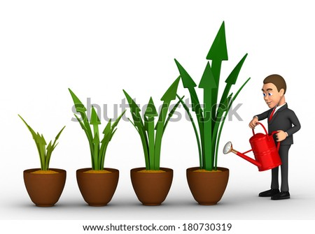 businessman and profit growth - stock photo