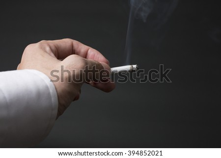 Businessman and tobacco