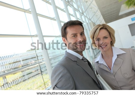 Businessman and woman. - stock photo
