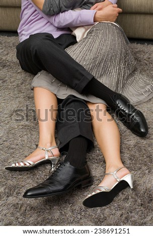 businessman and woman enjoying  - stock photo