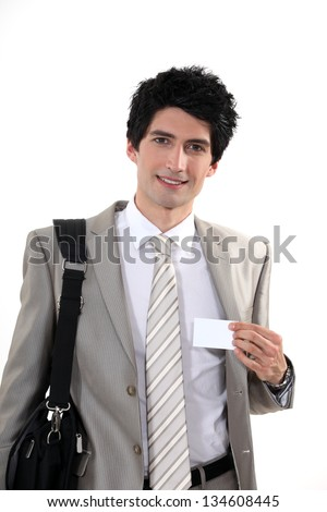 Businessman at a conference - stock photo