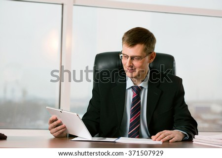 Businessman at office working at his desk