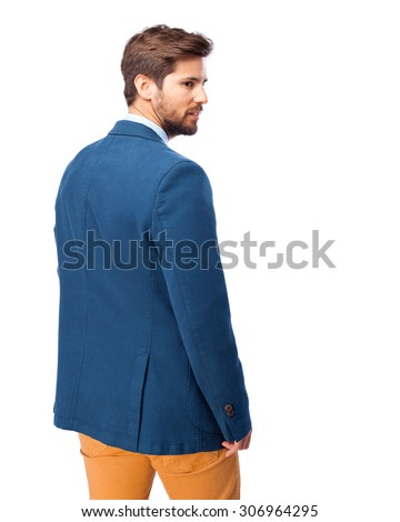 businessman back  - stock photo