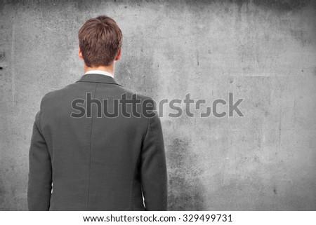 businessman back - stock photo