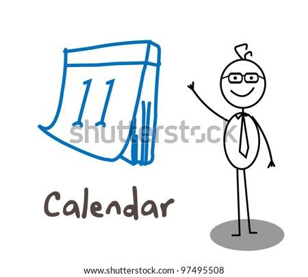 Businessman Calendar - stock photo
