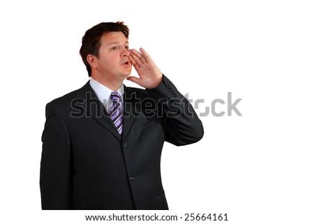 Businessman calling - stock photo