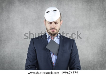 businessman caught with bribe - stock photo