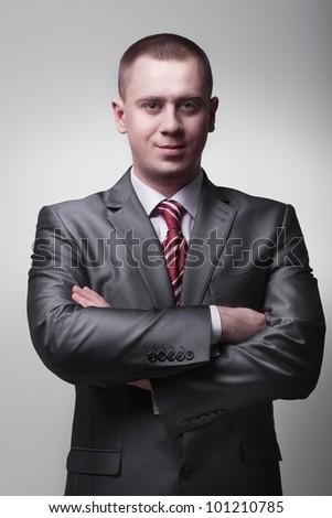 businessman closeup - stock photo