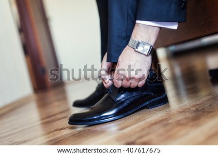 businessman clothes shoes