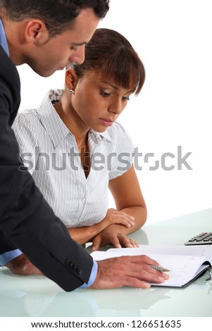 Businessman colleague for a favor - stock photo