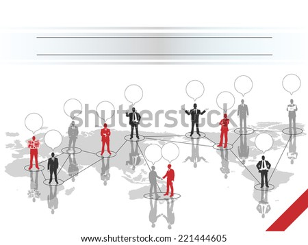 BUSINESSMAN CONCEPT BUSINESS WORLD RED - stock photo