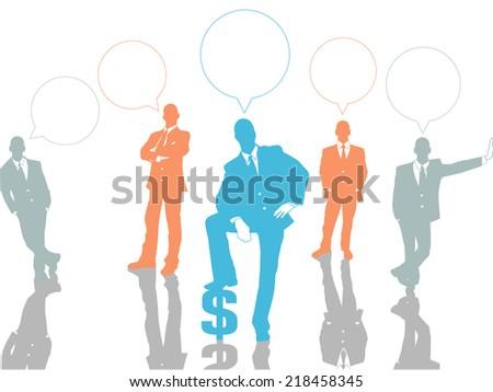 BUSINESSMAN CONCEPT OPTIONS 2 ORANGE - stock photo
