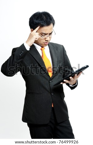 Businessman contemplating options - stock photo