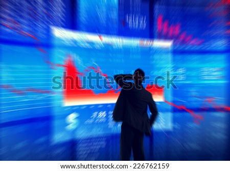 Businessman Currency Financial Crisis Concepts - stock photo