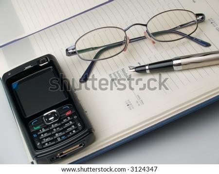 Businessman desk - stock photo