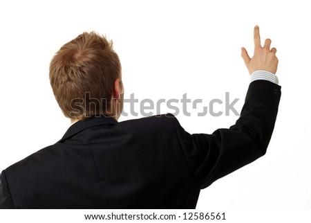 Businessman doing his presentation - stock photo