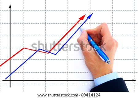 businessman drawing an organization chart on a white board - stock photo