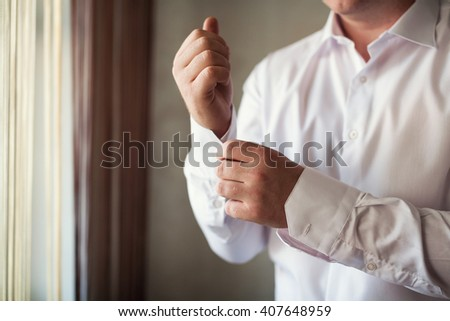 Businessman dress shirt - stock photo