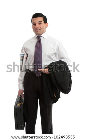 Businessman dressed and ready for work, interview, etc - stock photo