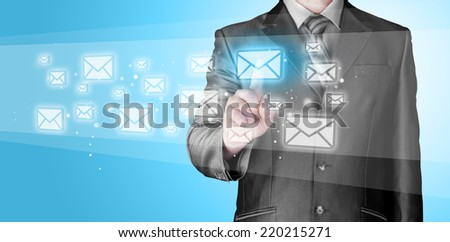 Businessman email concept - stock photo