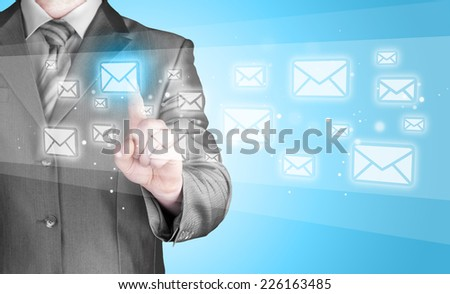 Businessman email concept