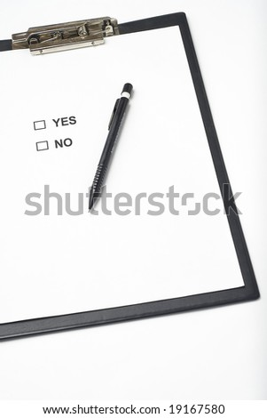 businessman filling out a questionnaire quality of service