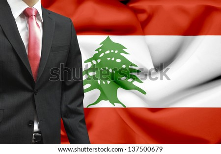 Businessman from Lebanon conceptual image