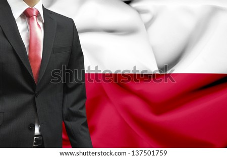 Businessman from Poland conceptual image - stock photo