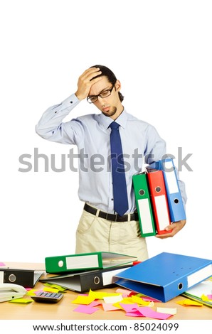 Businessman frustrated in the office