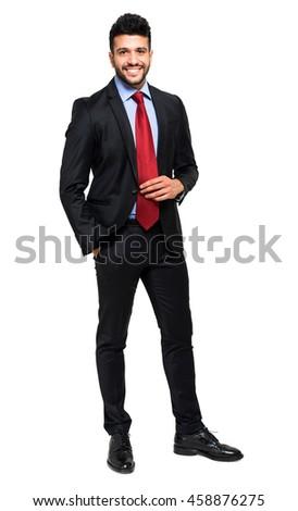 Businessman full length portrait - stock photo