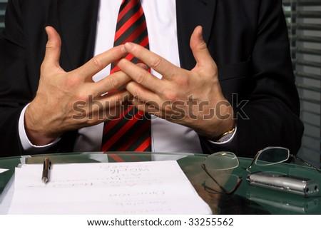 Businessman gesticulating - stock photo
