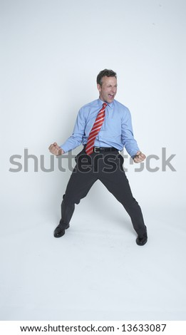 Businessman gets the deal ! - stock photo