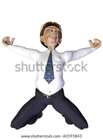 Businessman goal - stock photo